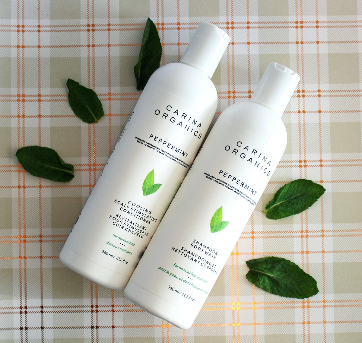 Carina Organics Peppermint Shampoo + Conditioner