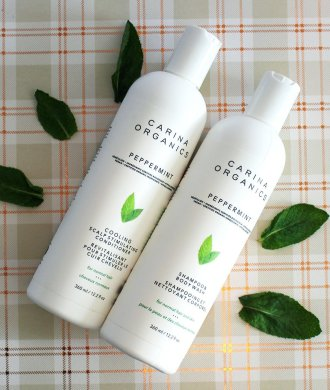 carina organics peppermint shampoo and conditioner
