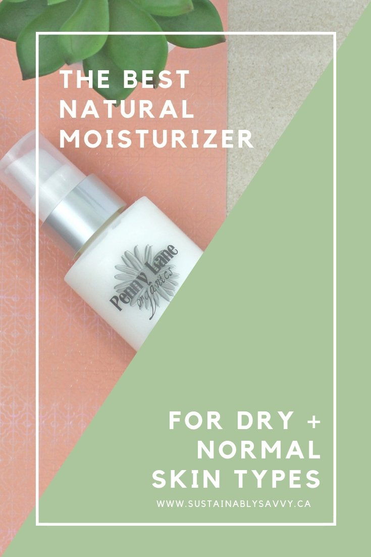 The Best Natural Moisturizer for dry-normal skintypes