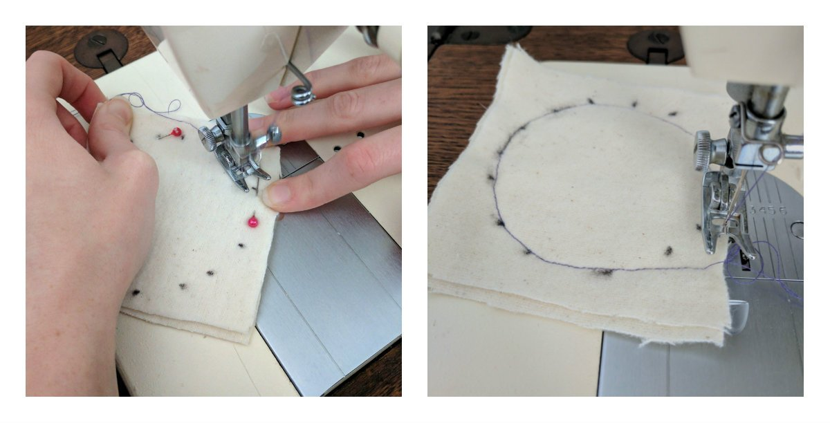 sewing cotton rounds