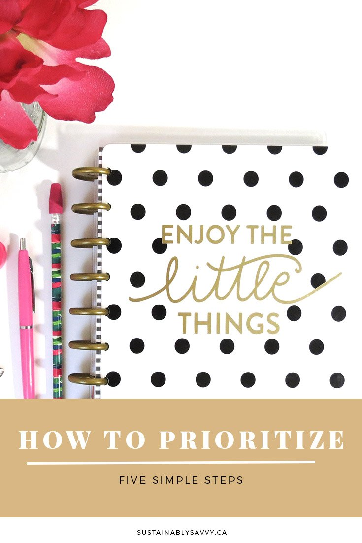 HOW TO PRIORITIZE FIVE STEPS PINTEREST