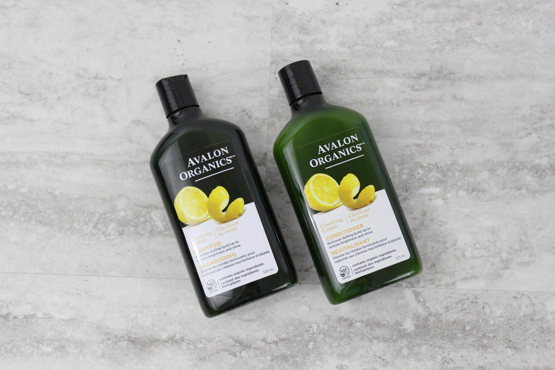 Avalon Organics Lemon Clarifying Shampoo + Conditioner The conditioner has a lighter appearance and a more cream-like texture.