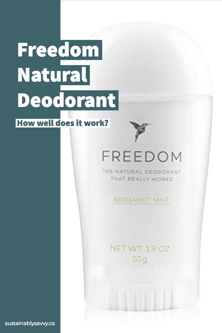 Freedom Natural Deodorant Review