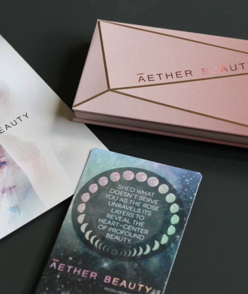 Zero Waste Eye Shadow Palette Aether Beauty Rose Quartz Palette Review