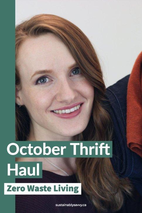 October Thrift Haul | zero waste living