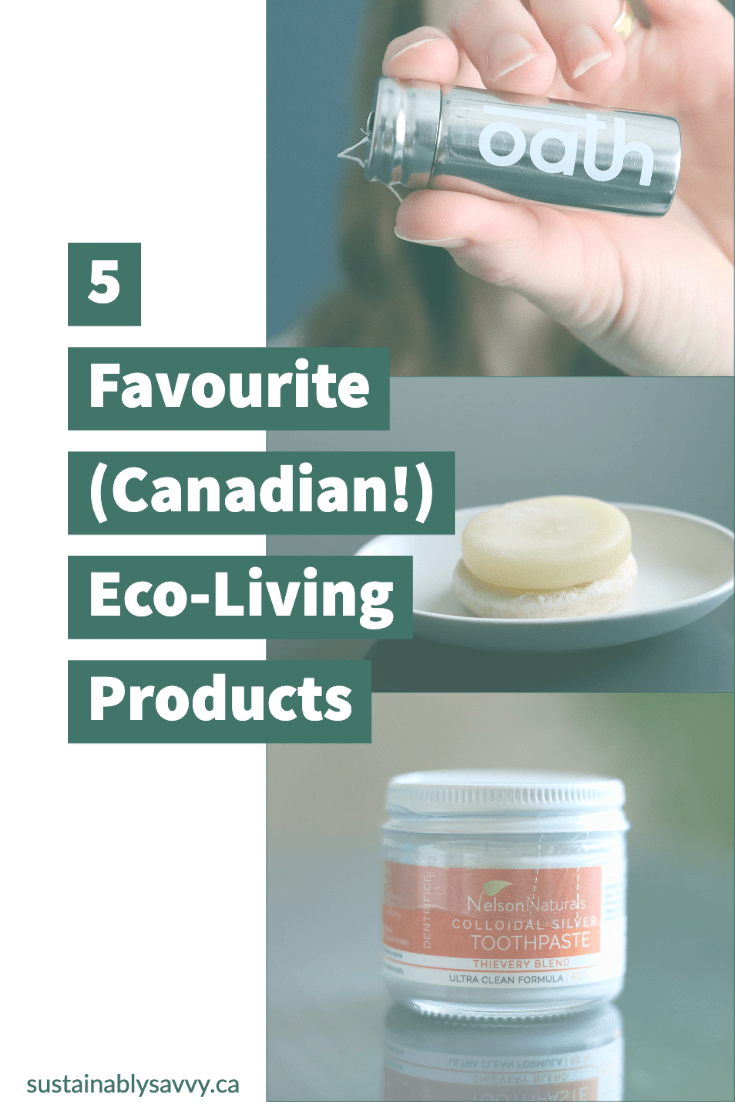 Pinterest image for five favourite eco-living produc