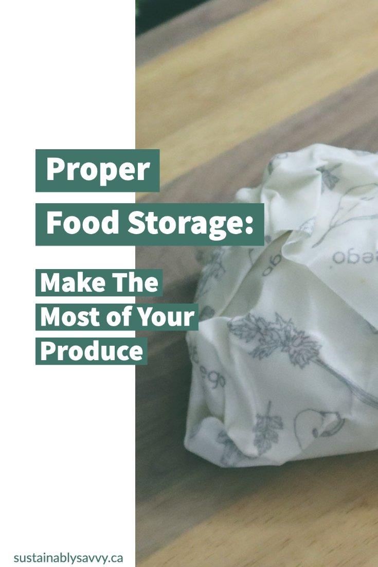 Proper Food Storage Pinterest Image
