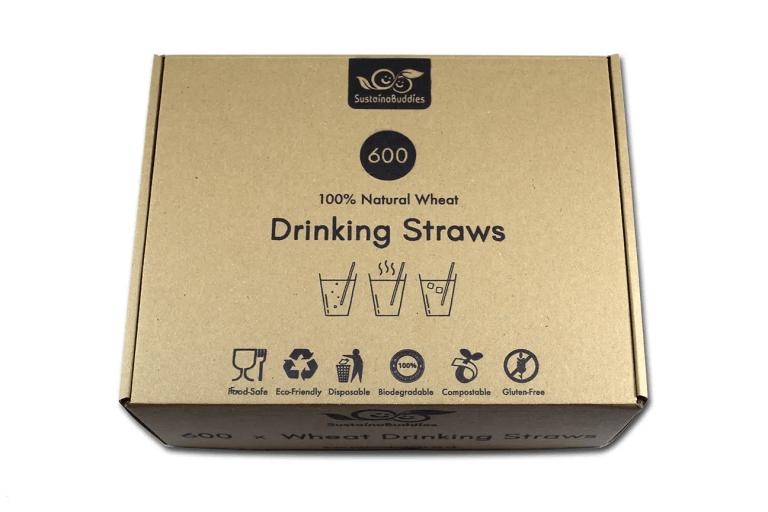 Front of 600pcs wheat straws box