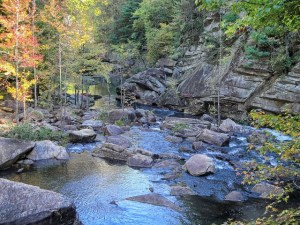 talulah gorge river stream