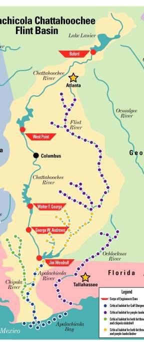 ACF dams map