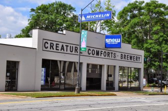 Creature Comforts Brewery in Athens. Great Spot for a Small Brewery and Great Re-Use of a Downtown Building socialshutter.blogspot.com