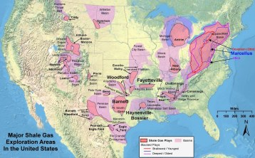 Major Shale Exploration Areas earthshare.org