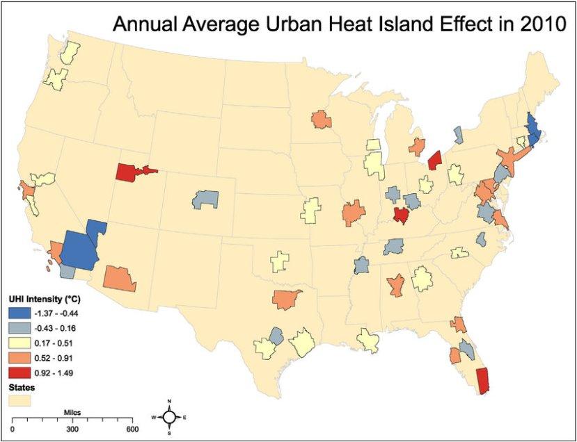 Heat Island Effect Map