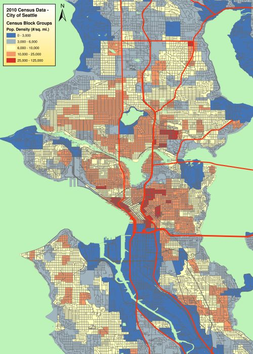 Seattle Population Density