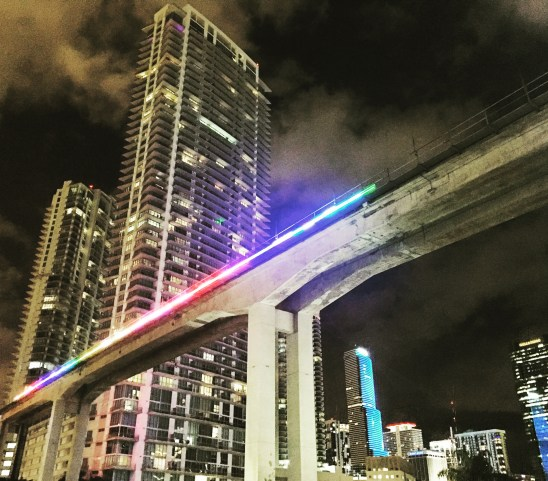 Miami's Metrorail at the Miami River