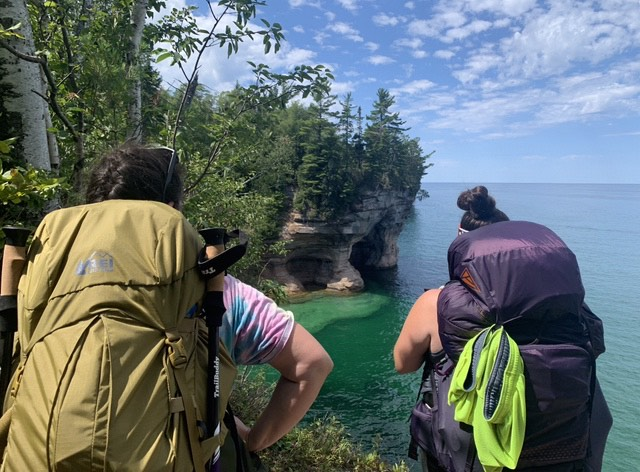 Pictured Rocks, Chapel Beach cliffs and turquoise waters of Lake Superior