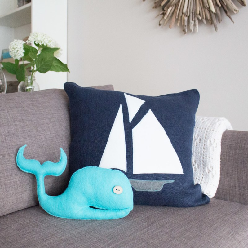 beach themed pillows by sustain my craft habit