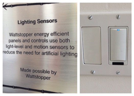 One of our light sensor control panels