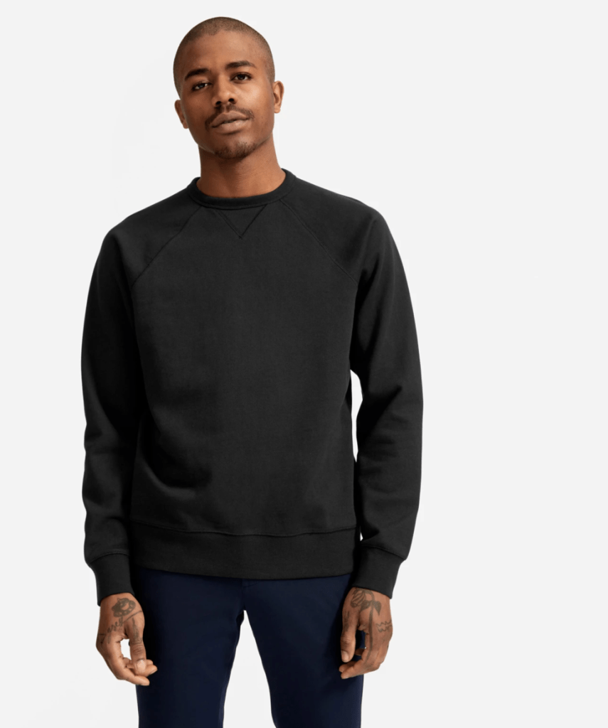 Classic french terry crew everlane for mens