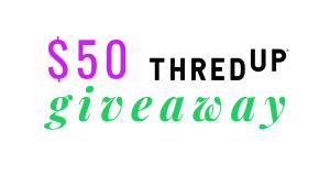 $50 thredUP giveaway