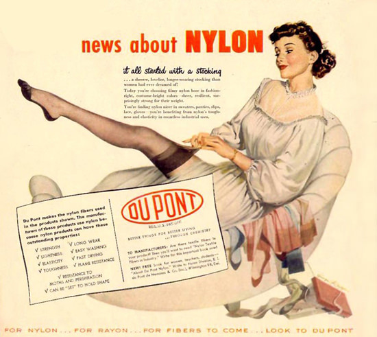 DuPont Nylon Ad from 1940s