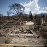Ruins of Lytton, BC after forest fire