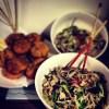 Wagamama Yasai Korroke and Ginger Chilli Mushrooms