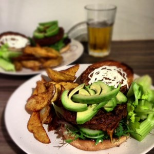 Veggie Burgers with Cajun Wedges