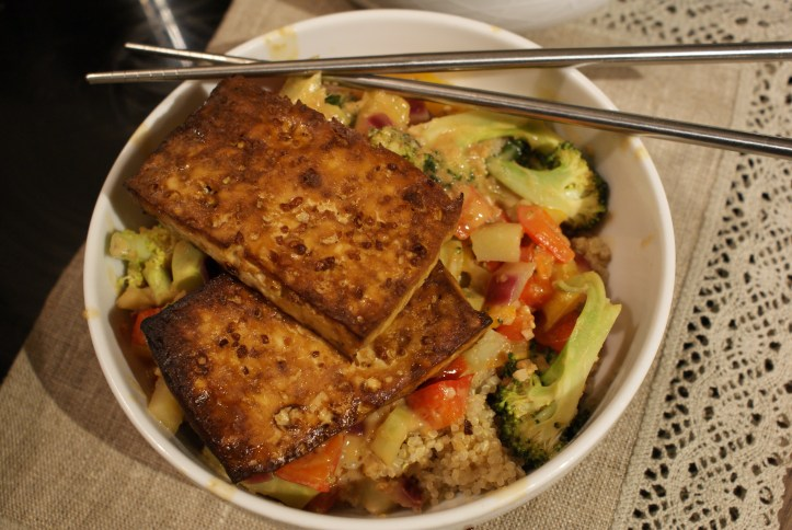 Recipe | Baked Tofu, Quinoa and Peanuts
