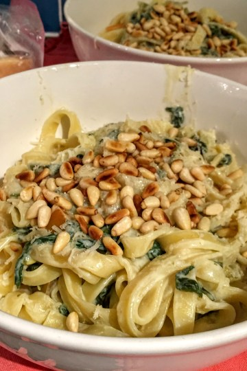 Tagliatelle with Lemon and Spinach Sauce | Vegan Pasta Recipes | Susty Meals | Sarah Irving