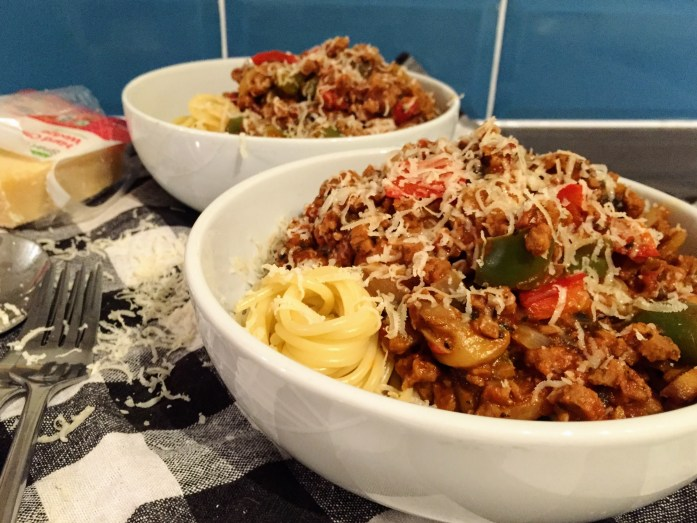 Chunky Veggie Spaghetti Bolognese | Vegetarian Recipes | Vegetarian Pasta | Susty Meals | Sarah Irving | Manchester Food Blogger
