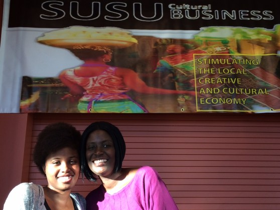 Essence Watkins and Tonya Crear spend Mother Daughter time at the Susu PopUp Shop #OC3.