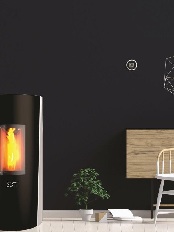 Sûti Design & Utility | Poêles à pellets design | IP1 verre blanc
