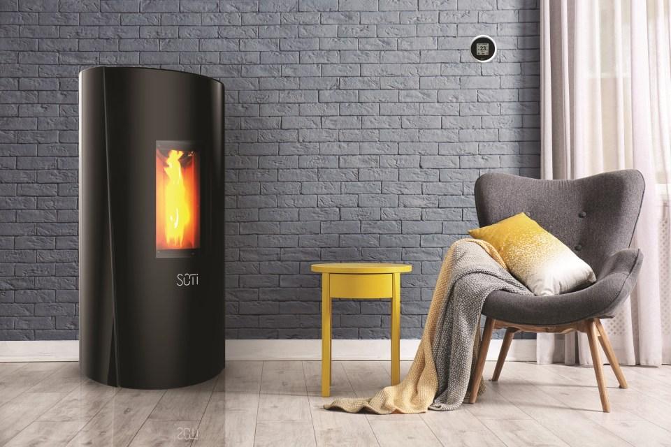 Sûti Design & Utility | Poêles à pellets design | IP1 verre noir