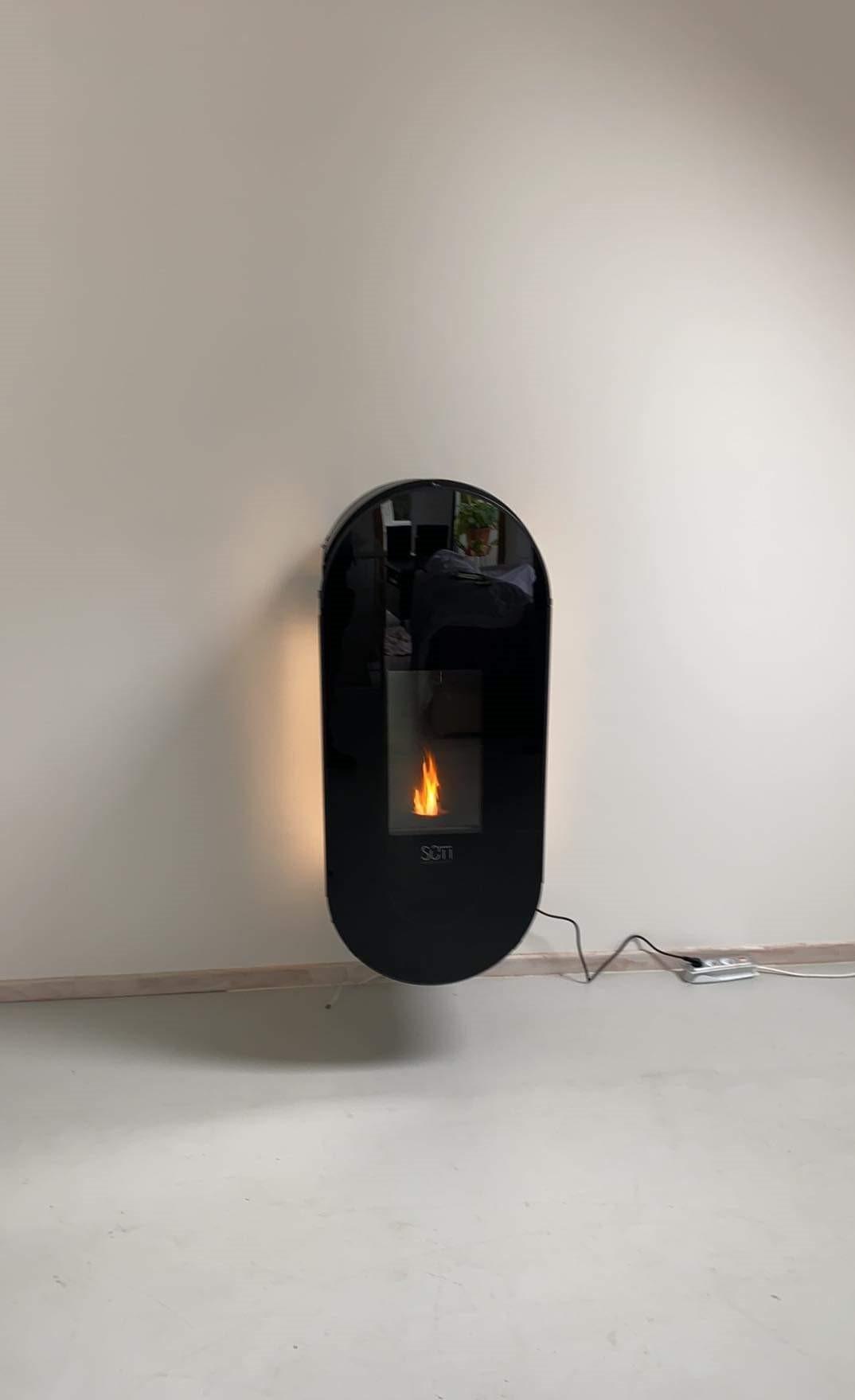 Sûti Design & Utility | Poêles à pellets design | UP1 suspendu