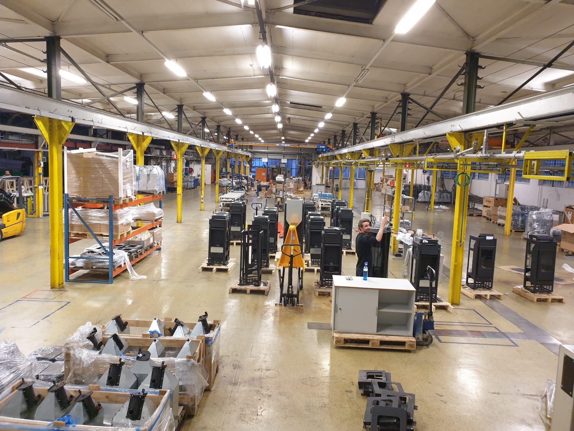 Production Eupen - En cours d'installation