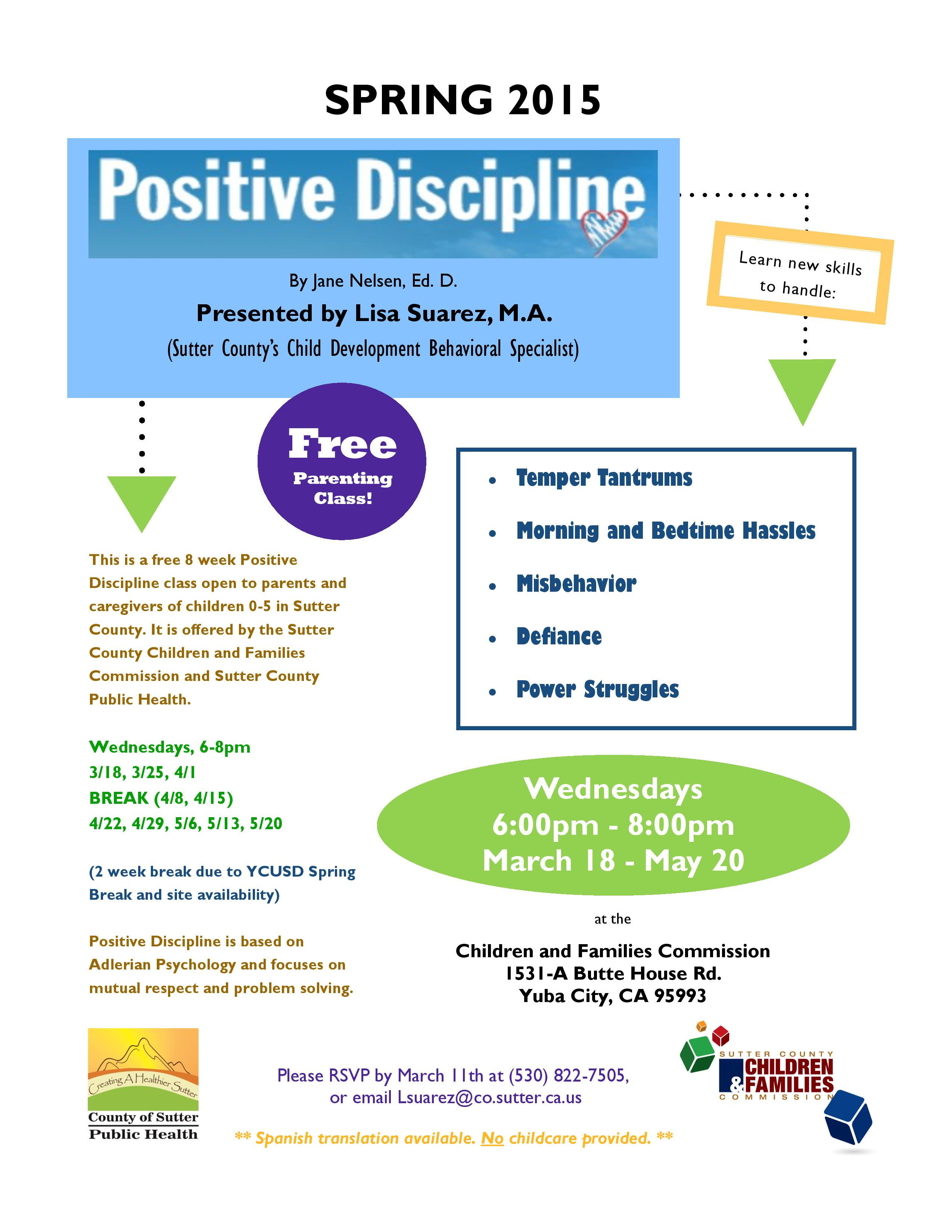 Positive Discipline Parenting Workshop Series