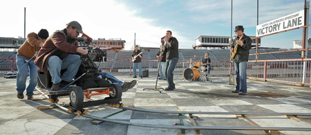Carolina Moonshine music video at North Wilksboro Speedway