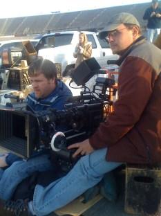 James Suttles behind the camera on the music video Carolina Moonshine with NASCAR legend Junior Johnson