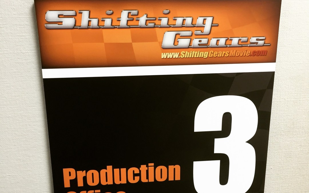 "Prep on the feature film ""Shifting Gears"""