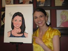 Receiving Sardi's caricature