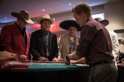 Students competing for prizes at Casino Night. Photo by photojournalist, Zihao Li.