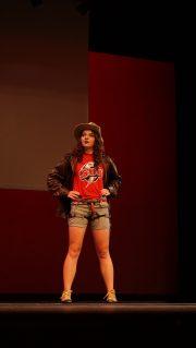 Katie Wills dressed as Indiana Jones during Miss SUU.