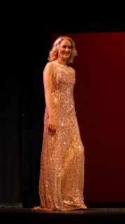 Haley Mineer during the pageant wear.