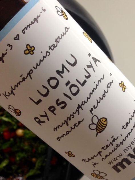 Rypsiöljyissä on eroa, ihan niinkuin viineissä. Terroir ratkaisee rypsissäkin.