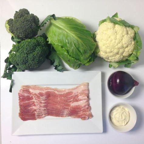 Pietan salaatti-ainekset