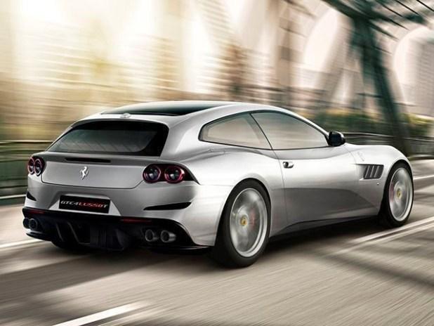 Ferrari SUV rear view