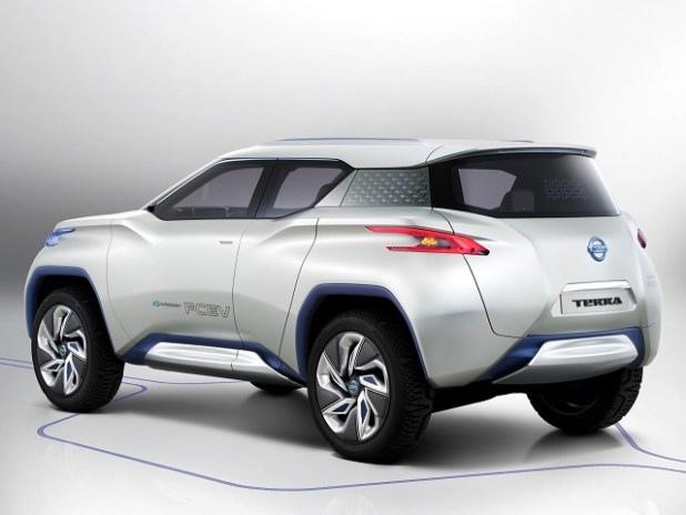 Nissan Leaf Based Electric Crossover Concept rear view