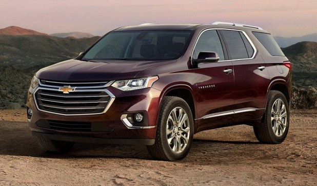 2019 Chevy Traverse front view