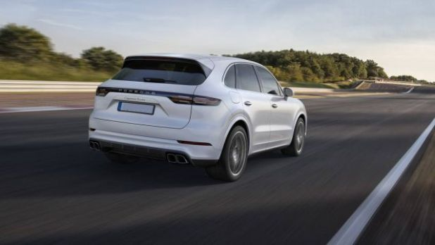2019 Porsche Cayenne Turbo rear view
